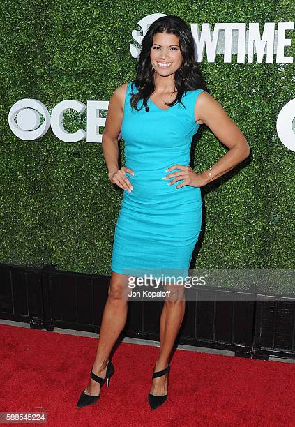Actress Andrea Navedo arrives at CBS CW Showtime Summer TCA Party at Pacific Design Center on August 10 2016 in West Hollywood California