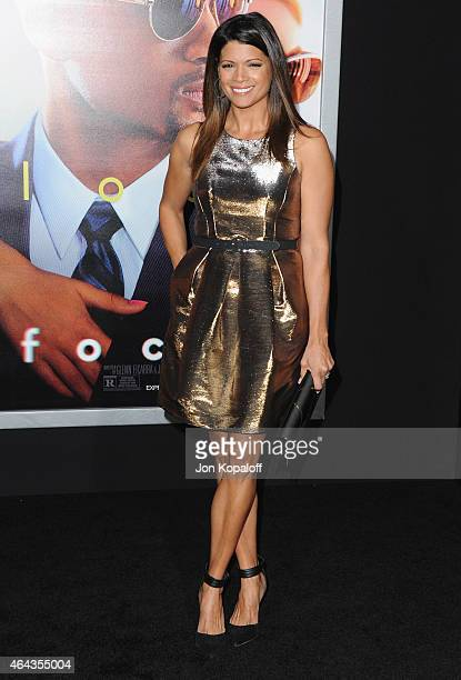 Actress Andrea Navedo arrives at the Los Angeles World Premiere Of Warner Bros Pictures 'Focus' at TCL Chinese Theatre on February 24 2015 in...