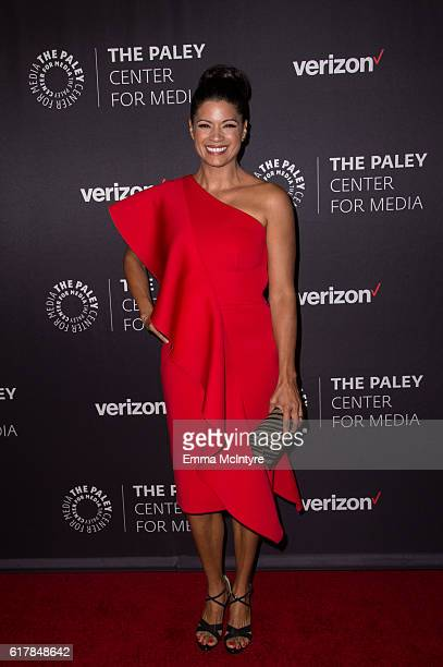 Actress Andrea Navedo arrives at The Paley Center for Media's Hollywood Tribute to Hispanic Achievements in Television event at the Beverly Wilshire...