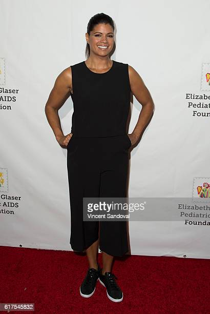 Actress Andrea Navedo attends Elizabeth Glaser Pediatric AIDS Foundation's 27th annual A Time For Heroes at Smashbox Studios on October 23 2016 in...