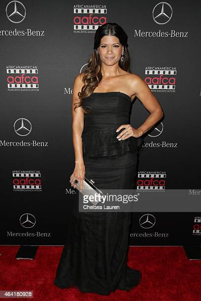 Actress Andrea Navedo attends MercedesBenz USA and African American Film Critics Association Academy Awards viewing party on February 22 2015 in Los...