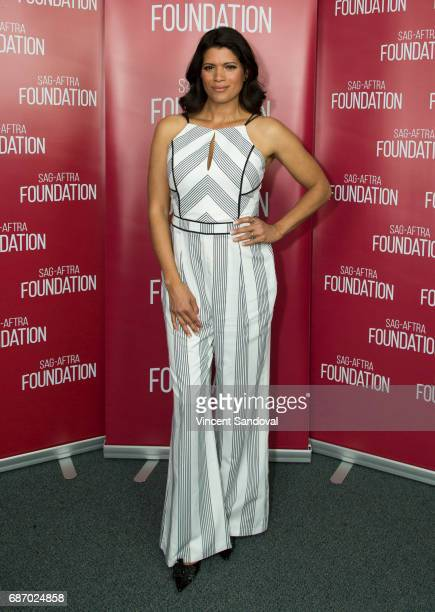 Actress Andrea Navedo attends SAGAFTRA Foundation's Conversations with 'Jane The Virgin' at SAGAFTRA Foundation Screening Room on May 22 2017 in Los...