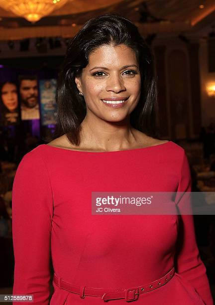 Actress Andrea Navedo attends the 19th Annual National Hispanic Media Coalition Impact Awards Gala at Regent Beverly Wilshire Hotel on February 26...