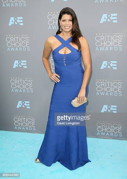 Actress Andrea Navedo attends The 21st Annual Critics' Choice Awards at Barker Hangar on January 17 2016 in Santa Monica California