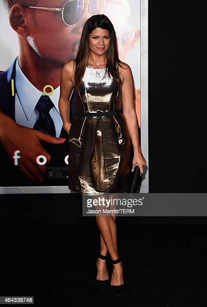 Actress Andrea Navedo attends the Warner Bros Pictures' 'Focus' premiere at TCL Chinese Theatre on February 24 2015 in Hollywood California
