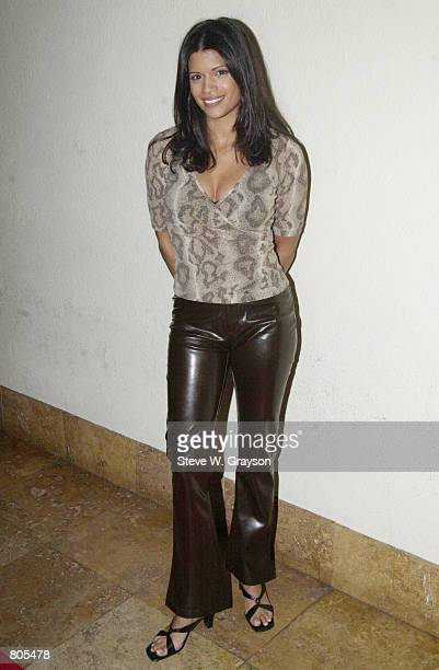 Actress Andrea Nevado poses for photographers at the launch party for Bold Magazine at the Sunset Room September 28 2000 in Hollywood CA
