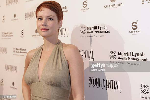 Actress Andrea Osvart attends Los Angeles Confidential Celebrates 10th Anniversary presented by Merrill Lynch Wealth Management at SupperClub Los...