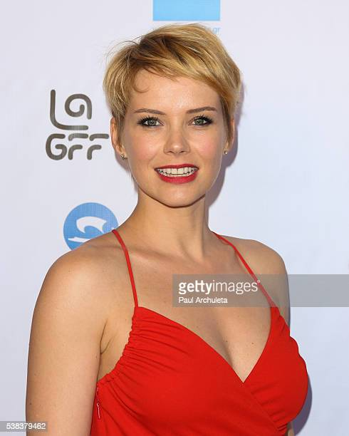 Actress Andrea Osvart attends the premiere of 'Worlds Apart' at the 2016 LA Greek Film Festival at the Egyptian Theatre on June 5 2016 in Hollywood...