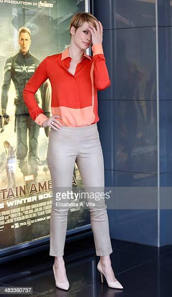 Actress Andrea Osvart attends 'Un Matrimonio Da Favola' photocall at Cinema Adriano on April 8 2014 in Rome Italy