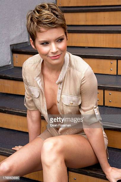Actress Andrea Osvart is photographed for Self Assignment on September 21 2011 in Los Angeles California