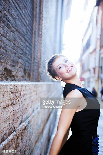 Actress Andrea Osvart is photographed for Self Assignment on November 07 2013 in Rome Italy