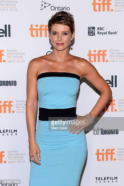 Actress Andrea Osvárt attends the Aftershock Premiere during the 2012 Toronto International Film Festival at the Ryerson Theatre on September 11 2012...