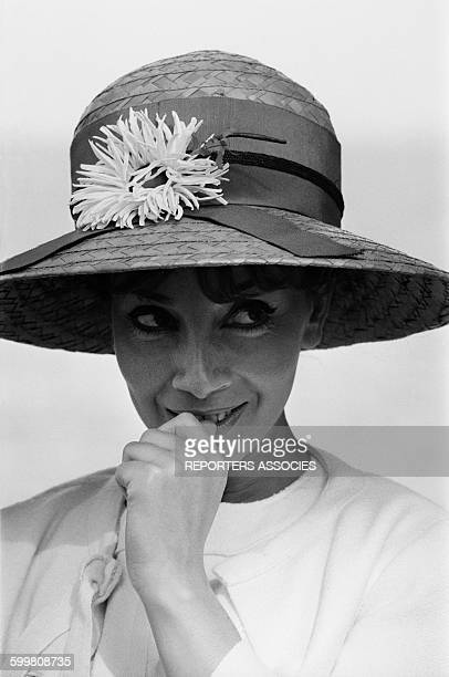 Actress Andrea Parisy At the Cannes Film Festival, in Cannes, France, on April 29, 1964 .
