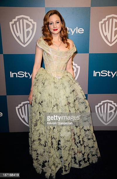 Actress Andrea Riseborough arrives at 13th Annual Warner Bros And InStyle Golden Globe Awards After Party at The Beverly Hilton hotel on January 15...