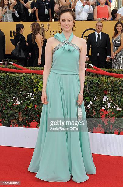 Actress Andrea Riseborough arrives at the 21st Annual Screen Actors Guild Awards at The Shrine Auditorium on January 25 2015 in Los Angeles California