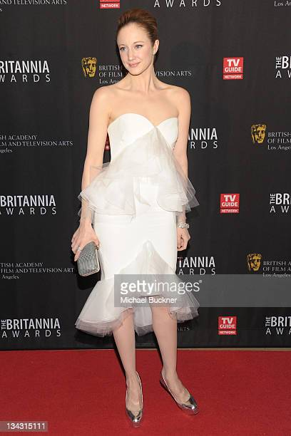 Actress Andrea Riseborough arrives at the BAFTA Los Angeles 2011 Britannia Awards at the Beverly Hilton Hotel on November 30 2011 in Beverly Hills...
