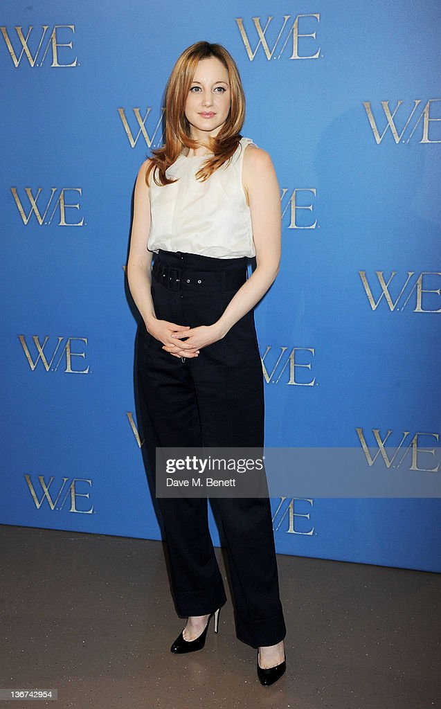 Actress Andrea Riseborough attends a photocall to promote the new film 'W.E.' at the London Studios on January 11, 2012 in London, United Kingdom.