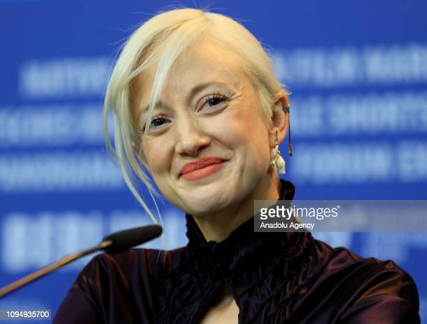 "Actress Andrea Riseborough attends a press conference of ""The Kindness Of Strangers movie within the 69th Berlinale International Film Festival on..."