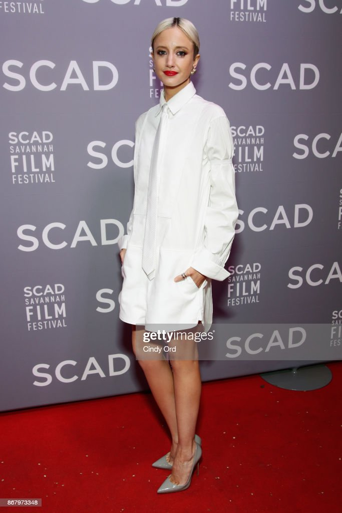 Actress Andrea Riseborough attends Red Carpet & Gala Screening of 'Mudbound' at Trustees Theater during the 20th Anniversary SCAD Savannah Film Festival on October 29, 2017 in Savannah, Georgia.