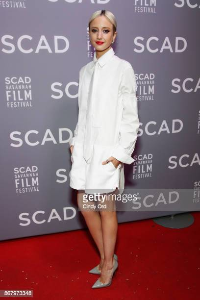 Actress Andrea Riseborough attends Red Carpet & Gala Screening of 'Mudbound' at Trustees Theater during the 20th Anniversary SCAD Savannah Film...