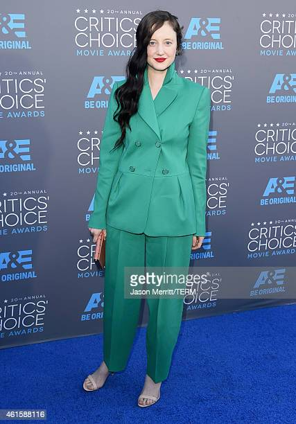 Actress Andrea Riseborough attends the 20th annual Critics' Choice Movie Awards at the Hollywood Palladium on January 15 2015 in Los Angeles...