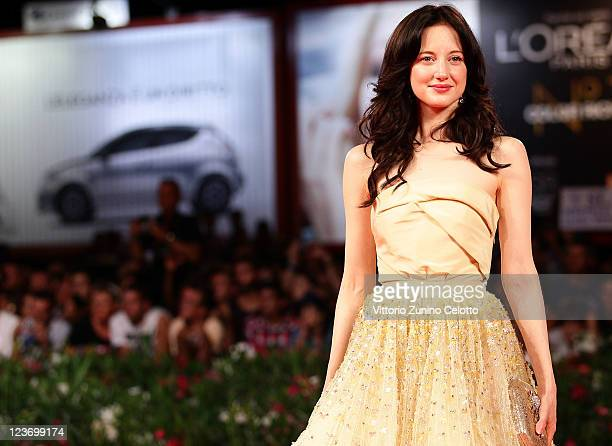 Actress Andrea Riseborough attends the 'Carnage' premiere at the Palazzo Del Cinema during the 68th Venice Film Festival on September 1 2011 in...