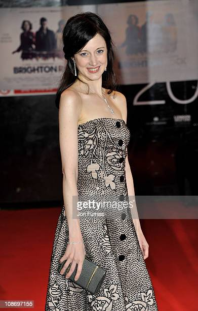 Actress Andrea Riseborough attends the European Premiere of Brighton Rock at Odeon West End on February 1 2011 in London England