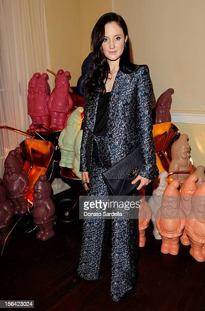 Actress Andrea Riseborough attends the Mulberry SS13 Dinner at Chateau Marmont on November 14 2012 in Los Angeles California