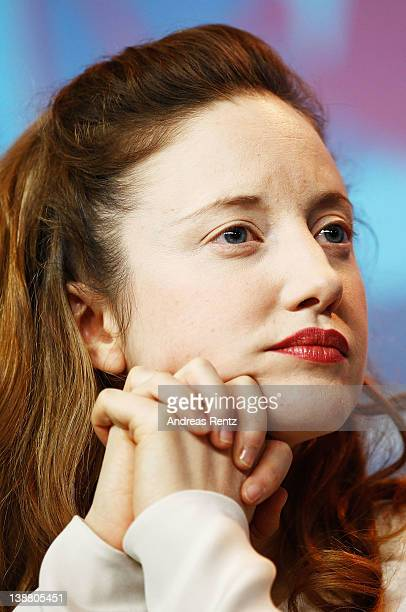 Actress Andrea Riseborough attends the Shadow Dancer Press Conference during day four of the 62nd Berlin International Film Festival at the Grand...
