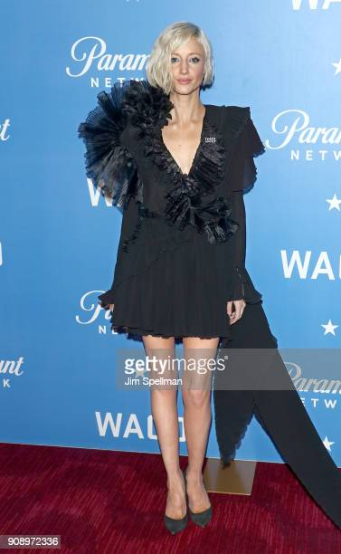 Actress Andrea Riseborough attends the 'Waco' world premiere at Jazz at Lincoln Center on January 22 2018 in New York City