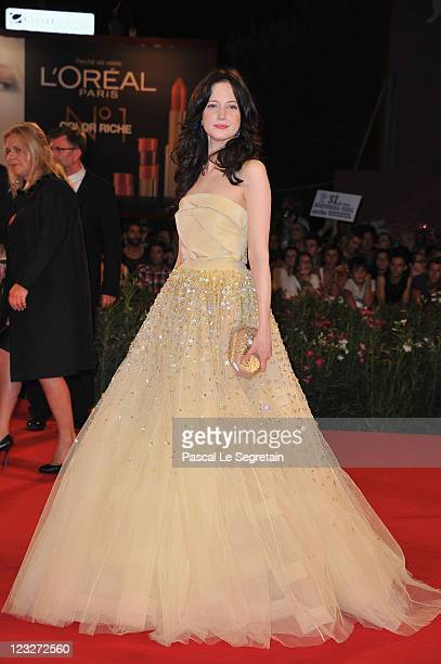Actress Andrea Riseborough attends the WE premiere at the Palazzo Del Cinema during the 68th Venice Film Festival on September 1 2011 in Venice Italy