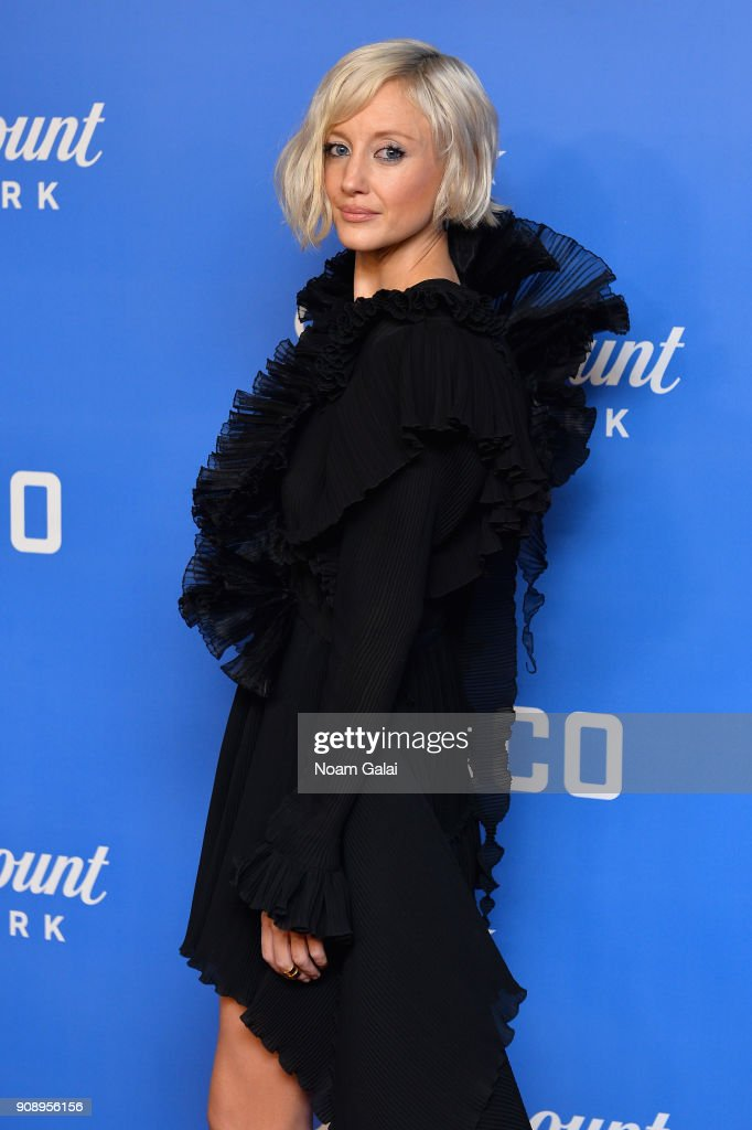 Actress Andrea Riseborough attends the world premiere of WACO presented by Paramount Network at Jazz at Lincoln Center on January 22, 2018 in New York City.