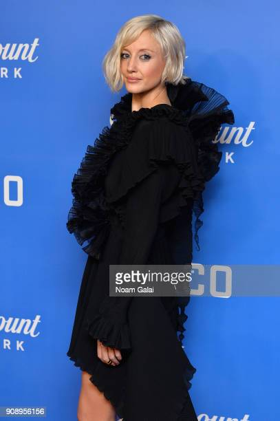 Actress Andrea Riseborough attends the world premiere of WACO presented by Paramount Network at Jazz at Lincoln Center on January 22 2018 in New York...
