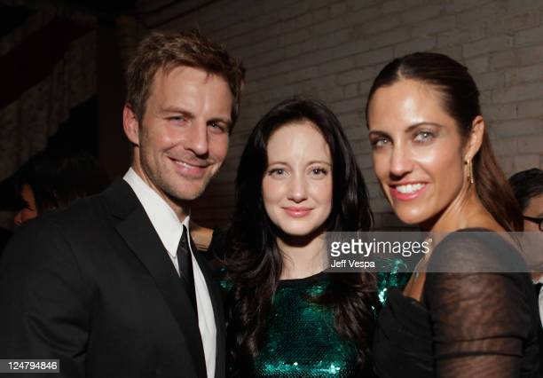 Actress Andrea Riseborough CAA Agent Tracy Brennan and party guest attend the Weinstein Party Including Butter Cast hosted by GREY GOOSE Vodka at...