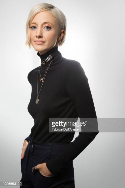 Actress Andrea Riseborough is photographed for Self Assignment on January 2018 in Park City Utah