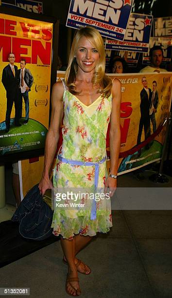 Actress Andrea Robinson arrives to the premiere of United Artists' film The Yes Men on the opening night of the Silver Lake Film Festival at the...