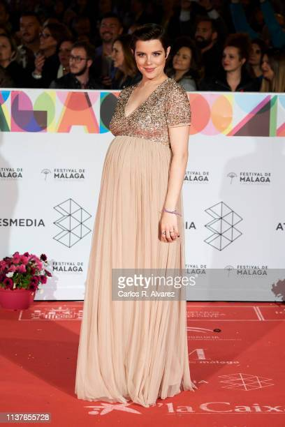 Actress Andrea Ros attends the 'Retrospeciva' award ceremony during the 22th Malaga Film Festival on March 22 2019 in Malaga Spain