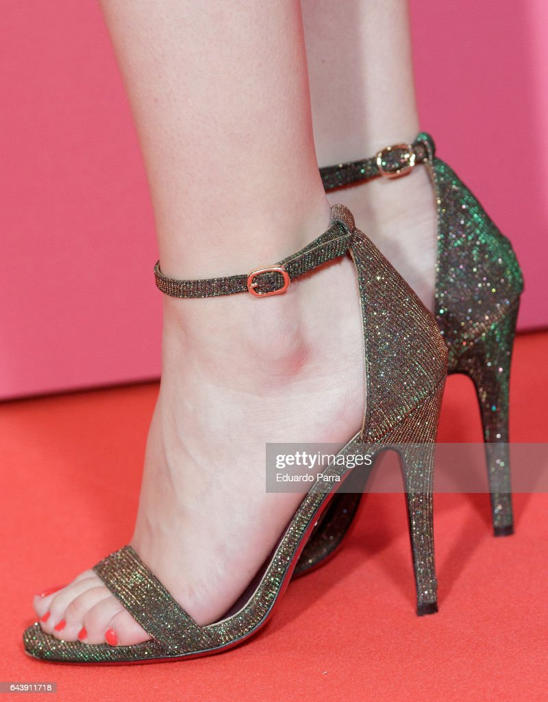 Andrea Ros actress andrea ros, shoes detail, attends the 'es por tu