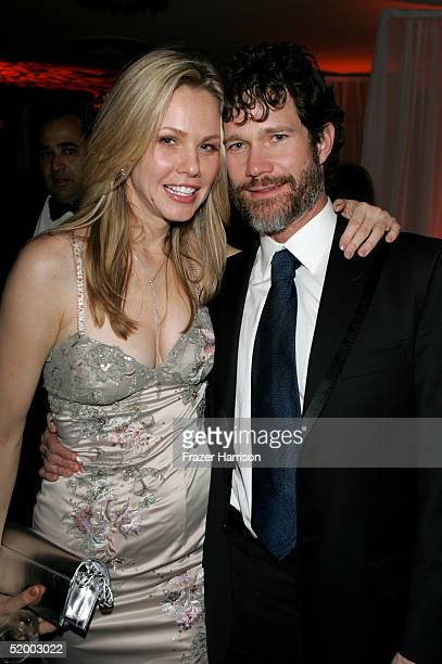Actress Andrea Roth and actor Dylan Walsh pose at the Fox Golden Globe After Party at the Beverly Hilton Hotel on January 16 2004 in Beverly Hills...