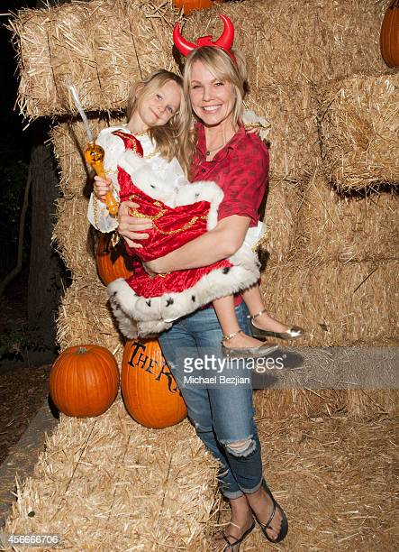 Actress Andrea Roth and her daughter Ava Biermann attend 'Rise Of The Jack O'Lanterns' Los Angeles Premiere at Descanso Gardens on October 4 2014 in...