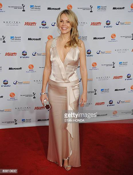 US actress Andrea Roth arrives at The 36th International Emmy Awards November 24 2008 in New York AFP PHOTO/Stan HONDA