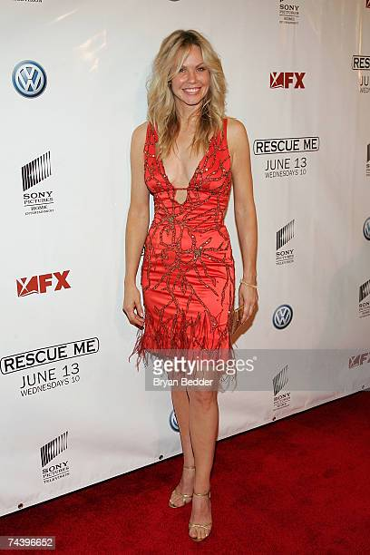 Actress Andrea Roth arrives at the premiere of 'Rescue' Me at the AMC theatre June 4 2007 in New York City