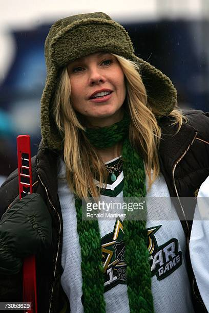 Actress Andrea Roth attends a celebrity hockey game during NHL AllStar Saturday at the American Airlines Center on January 20 2007 in Dallas Texas