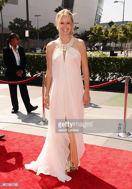 Actress Andrea Roth attends the 2009 Creative Arts Emmy Awards at Nokia Theatre LA Live on September 12 2009 in Los Angeles California