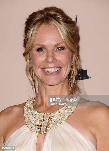 Actress Andrea Roth poses for photos in the press room at the 2009 Creative Arts Emmy Awards at Nokia Theatre LA Live on September 12 2009 in Los...