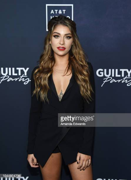 Actress Andrea Russett arrives at the ATT Hello Lab's 'Guilty Party History Of Lying' Season 2 Premiere at the ArcLight Hollywood on October 2 2018...