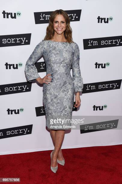 Actress Andrea Savage arrives at the premiere of truTV's 'I'm Sorry' at the SilverScreen Theater at the Pacific Design Center on June 13 2017 in West...