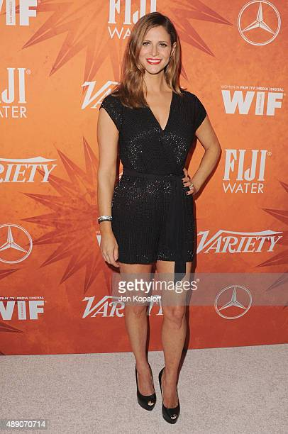 Actress Andrea Savage arrives at the Variety And Women In Film Annual PreEmmy Celebration at Gracias Madre on September 18 2015 in West Hollywood...