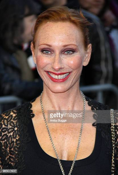 Actress Andrea Sawatzki arrives to the Jupiter Award ceremony2 at the 'Puro Sky Lounge' on April 16, 2010 in Berlin, Germany.