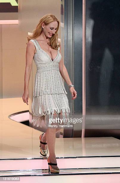 Actress Andrea Sawatzki attends the 198th 'Wetten dass ' show at Messe Leipzig on November 5 2011 in Leipzig Germany
